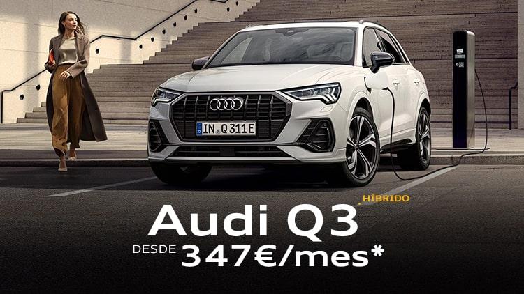 Audi Q3 TFSIe desde 347€/mes